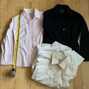 Lot of 4 Banana Republic Stretch Dress Shirts, S